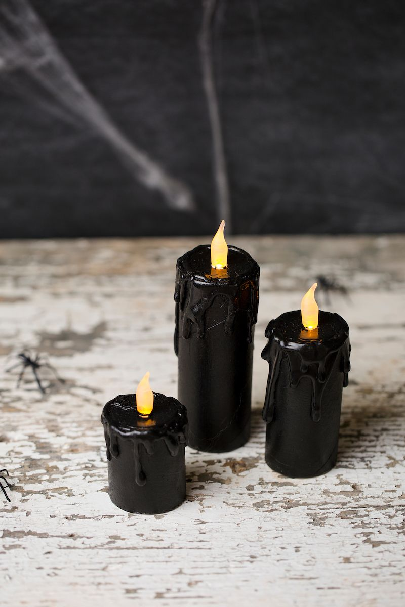 craft tube candles Craft, Halloween ideas and Halloween parties - cute homemade halloween decorations