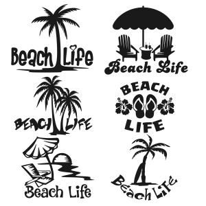 Life's A Beach Svg Cuttable Design