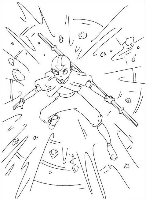 avatar coloring pages free | Anime | Pinterest