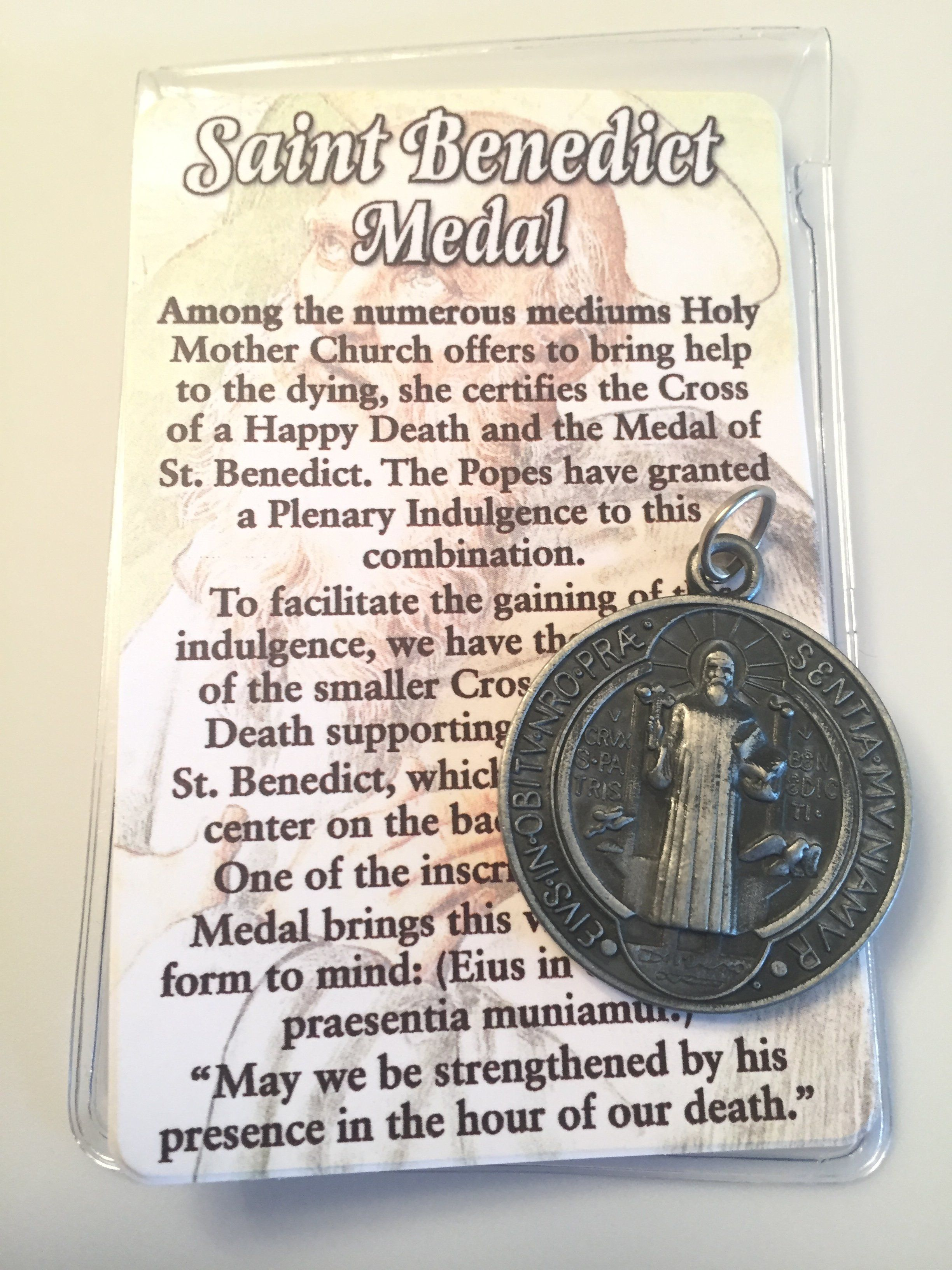 the standing round plaque st benedict medallion catholic company