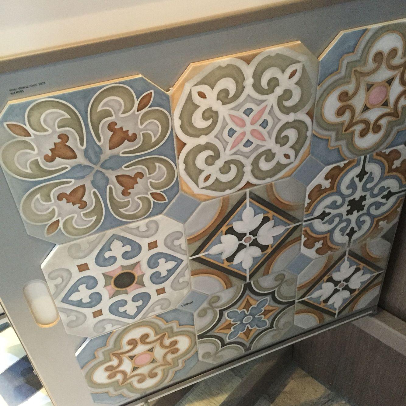 Keope cementine color vintage vloertegels in de keuken 30x30 cm ...