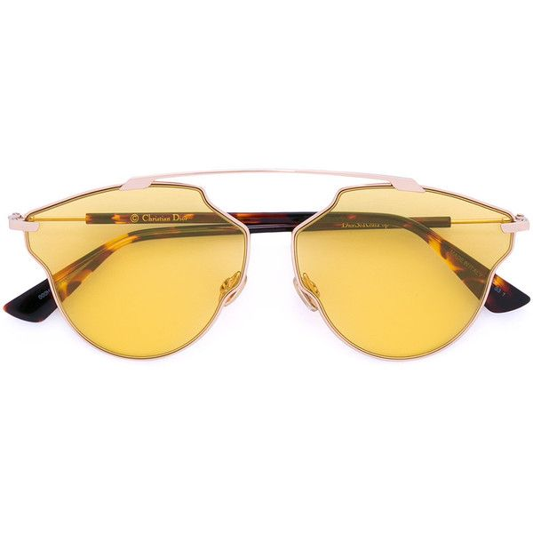 e7afd254049f Dior Eyewear Soreal Pop sunglasses (21,670 PHP) ❤ liked on Polyvore  featuring accessories, eyewear, sunglasses, brown, brown glasses, unisex  glasses, ...