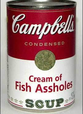 Cream of fish assholes recipes to cook pinterest for Canned fish assholes