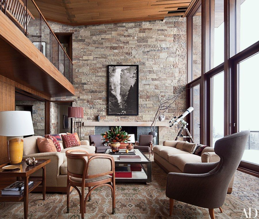 In This Aspen, Colorado, Ski House By Studio Sofield, An Ansel Adams  Photograph