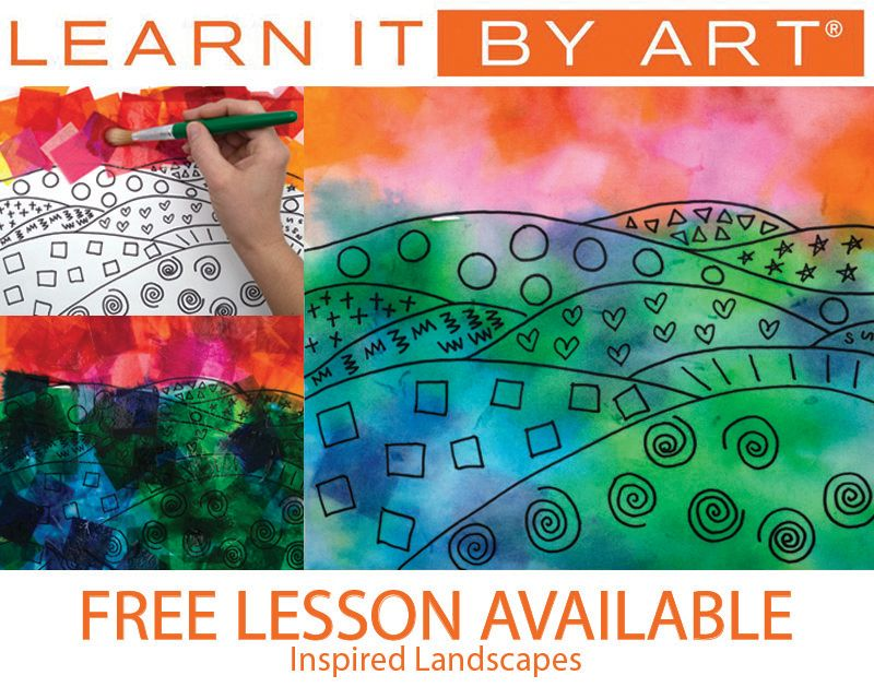 Students Will Count To 100 By Ones And Tens Students Will Expand Their Knowledge Of Landscapes Through Abs Arts Integration Math Warm And Cool Colors Math Art