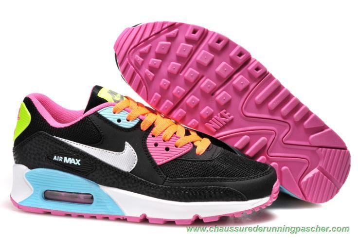 32ca95cebef3 meilleurs chaussures de running Nike Air Max 90 Noir ColoRouge Argent
