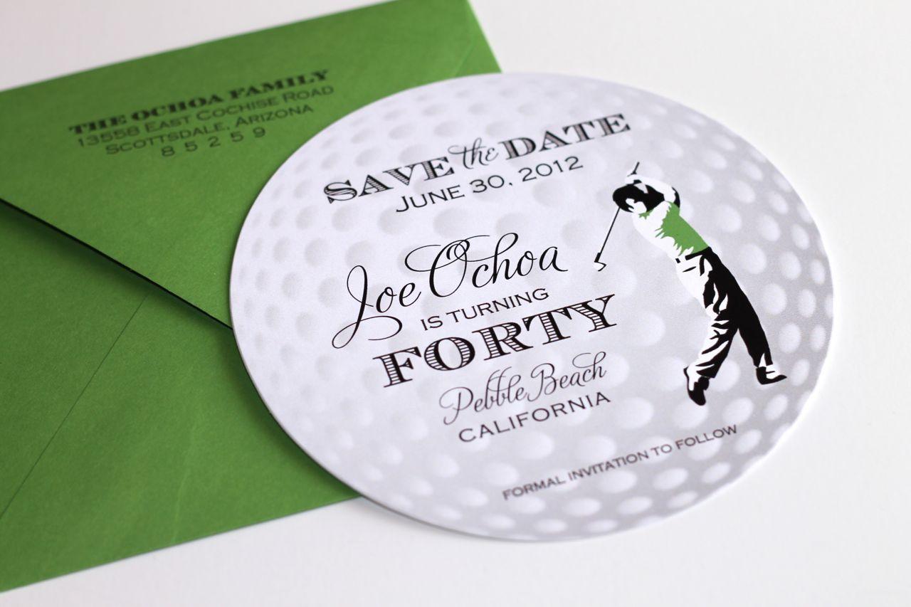 60th birthday like it 40th birthday golf themed invitations