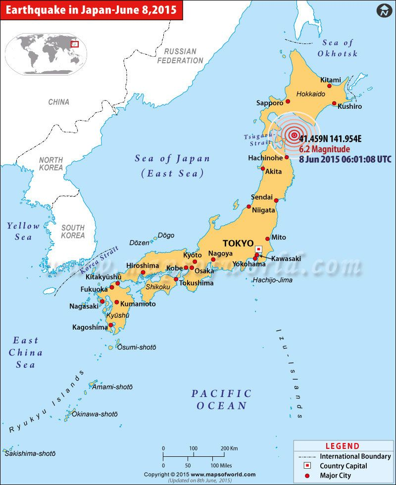 World Earthquake Map News. Japan Earthquakes Map  Areas Affected by in A 6 2 magnitude earthquake struck on Monday The
