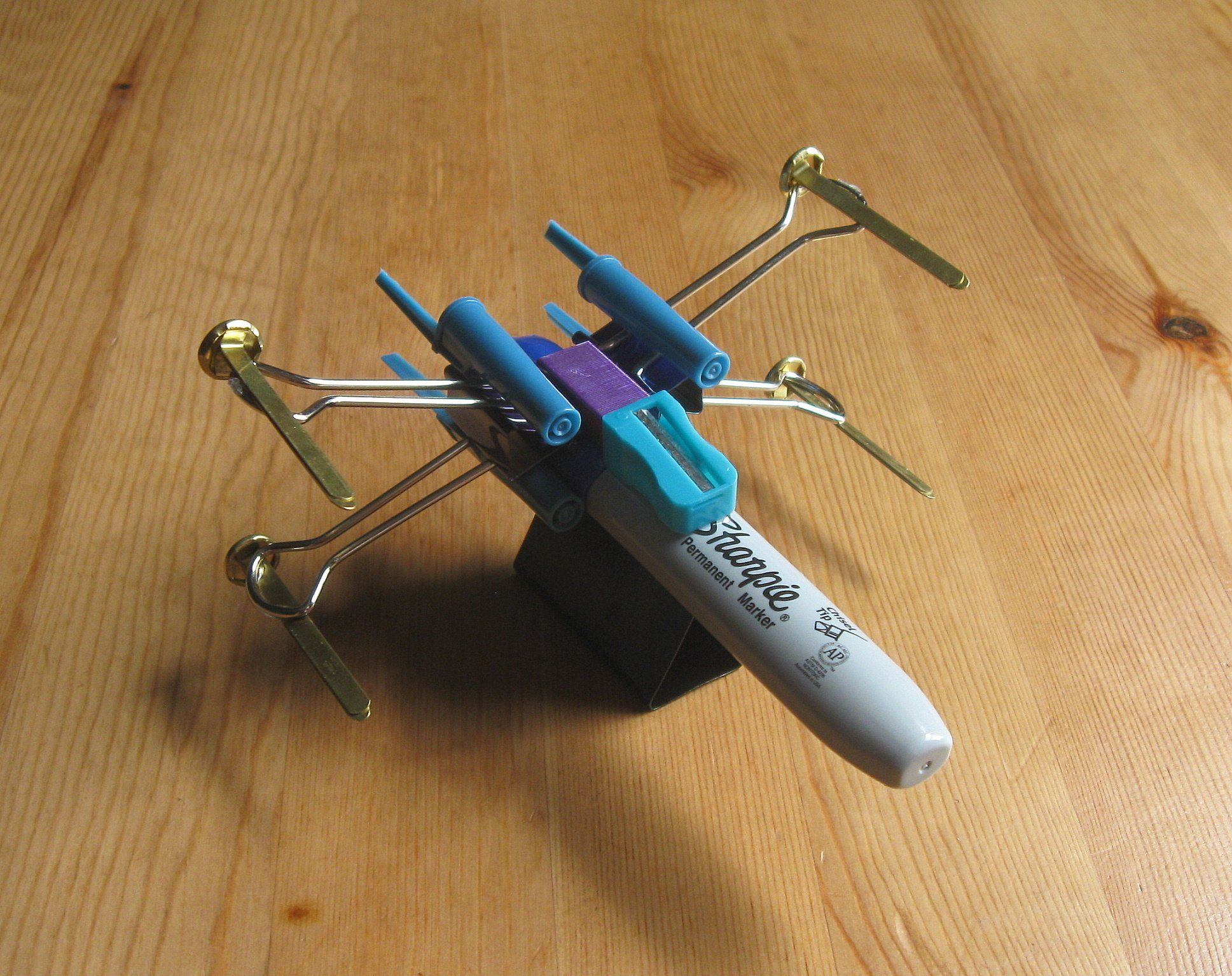 X Wing Fighter From Office Supplies X Wing Fighter X Wing Crafts To Do When Your Bored
