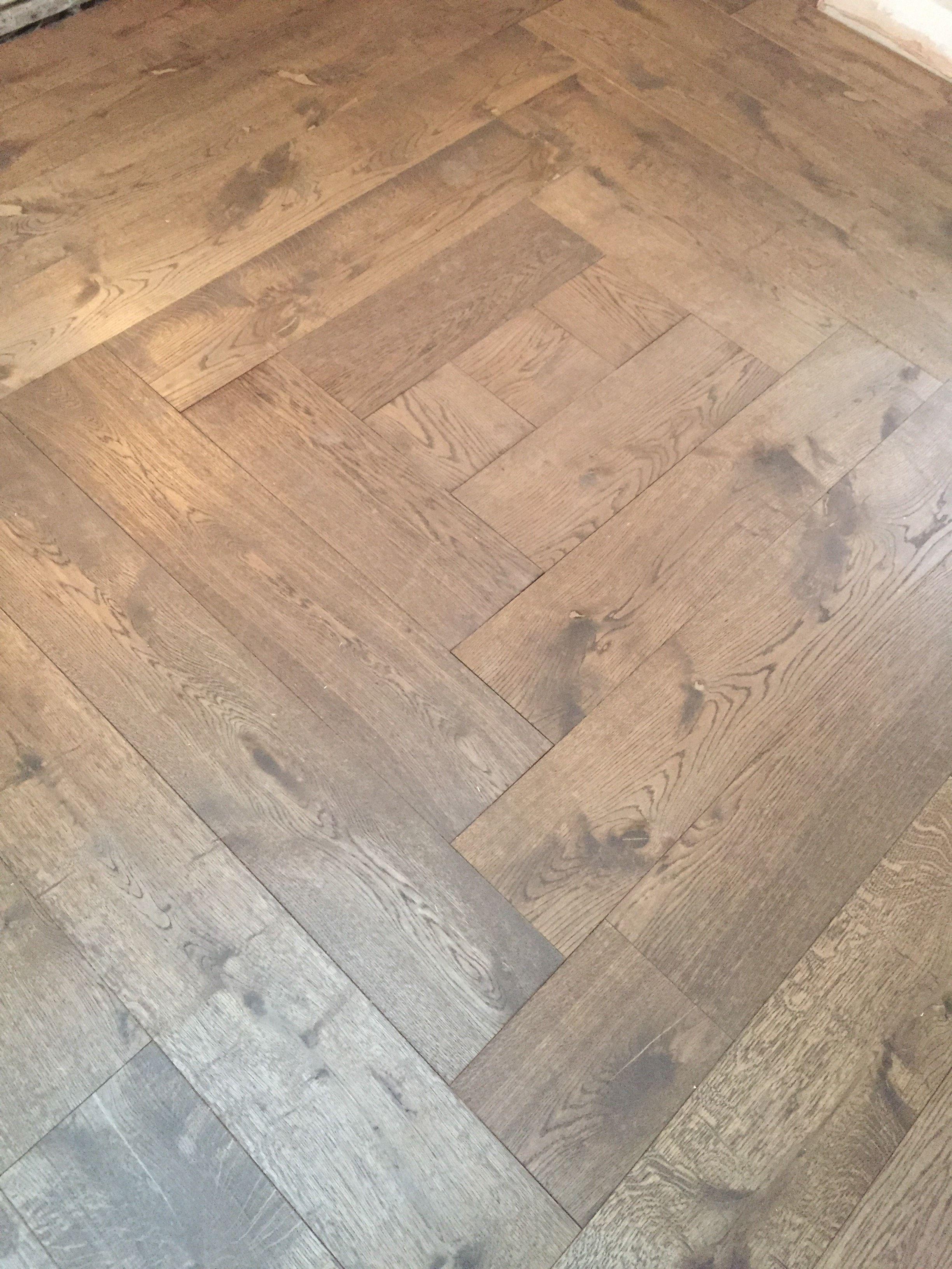 Bespoke Square Pattern First Floor Landing Done Engineered Wood
