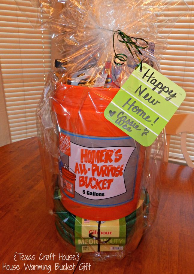 Texas Craft House Warming Bucket Gift Great Idea For A New Home Or Neighbor With Lots Of Ideas Too