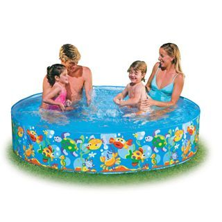 Snapset Pool 8 Ft X 8 Ft X 16 In For 34 Plastic Pool Pool Accessories Inflatable Swimming Pool