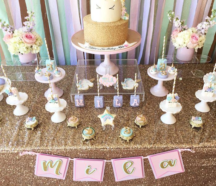 Unicorn 3rd Birthday Party Kara S Party Ideas Birthday Parties Jasmine Birthday 3rd Birthday Parties