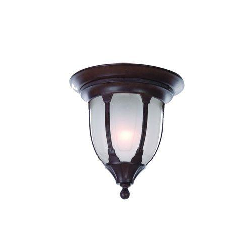 $70 Suffolk Burled Walnut One Light Ceiling Fixture Flush Mount Outdoor Ceiling Lighting Outd