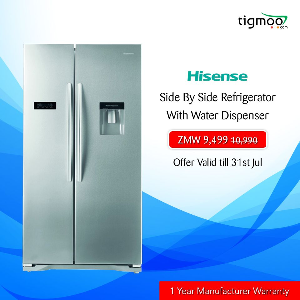 14% OFF on 556L #Hisense #SideBySideRefrigerator with