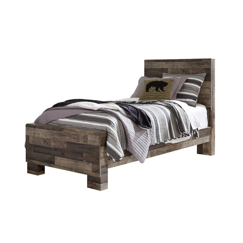 Modern Farmhouse Rustic Twin Bed Broadmore Bed Furniture Farmhouse Bedroom Decor Panel Bed