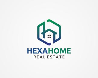 hexa home letter h logo logo design hexa home letter h logoo
