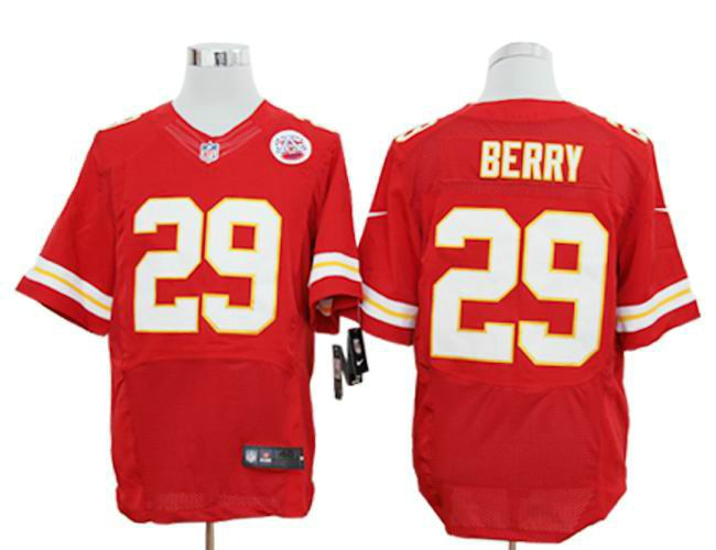 new products 2290b 38c93 Men's NFL Kansas City Chiefs #29 Eric Berry Red Elite Jersey ...