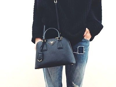 3fe963b7c1389c Prada Saffiano Lux Nero Bag Bauletto | #STYLECHAT STYLE | Prada bag ...