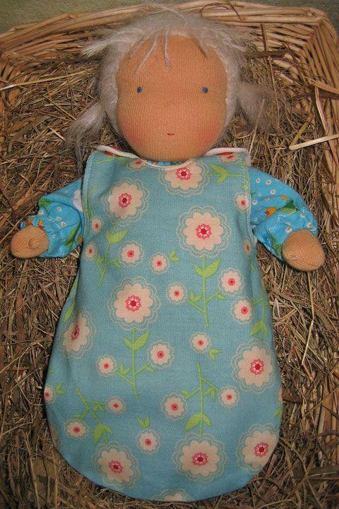 Schnittmuster für einen Puppenschlafsack | Pinterest ...