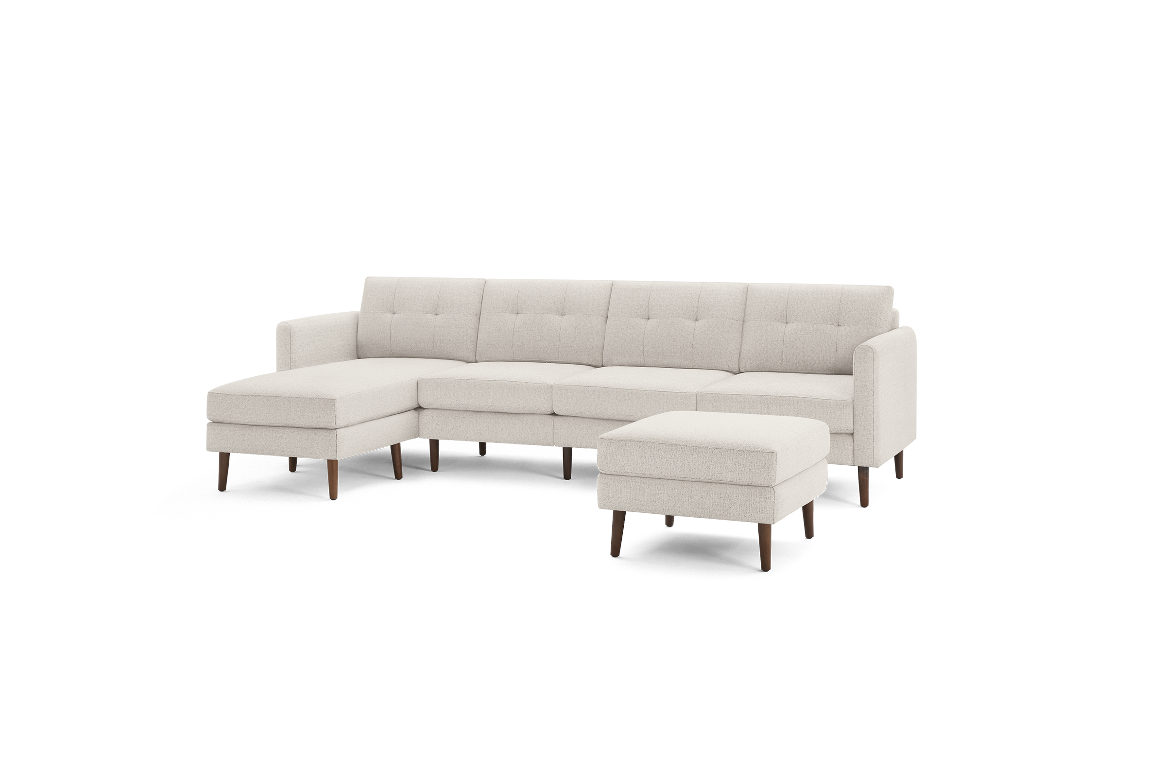 Nomad King Sectional With Ottoman Double Chaise Sectional