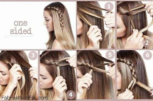 One Sided French Braid Hairstyle Tutorial Hair Styles Long Hair Styles Braided Hairstyles Easy