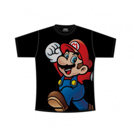 Mario Bros Camiseta negra