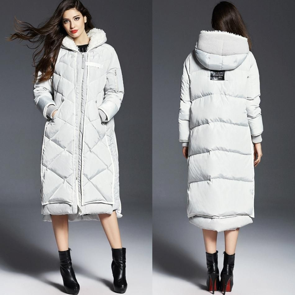 Long White Down Coat