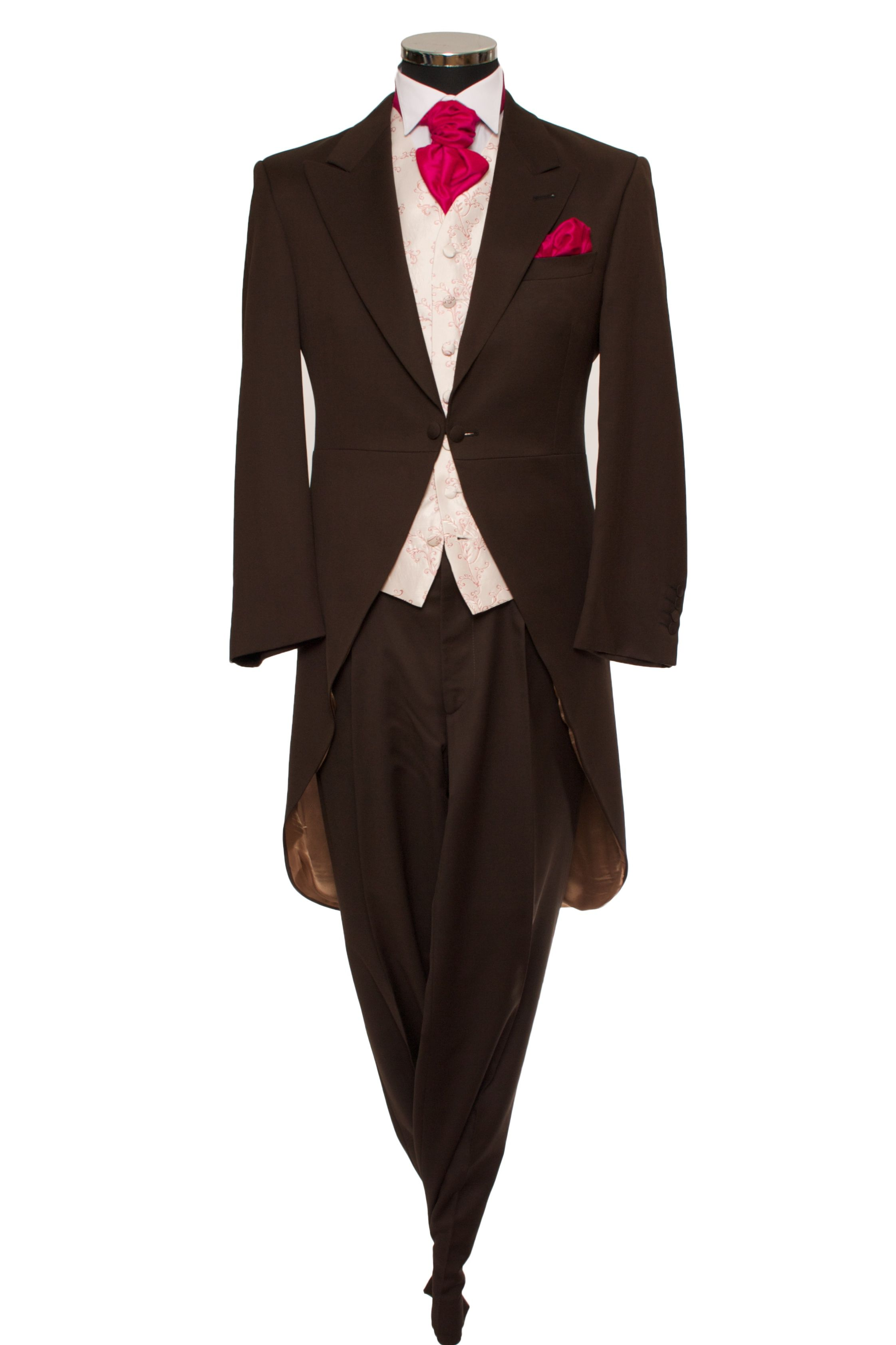 Our Brown Slim cut and lightweight morning suit (Tails). Dressed ...