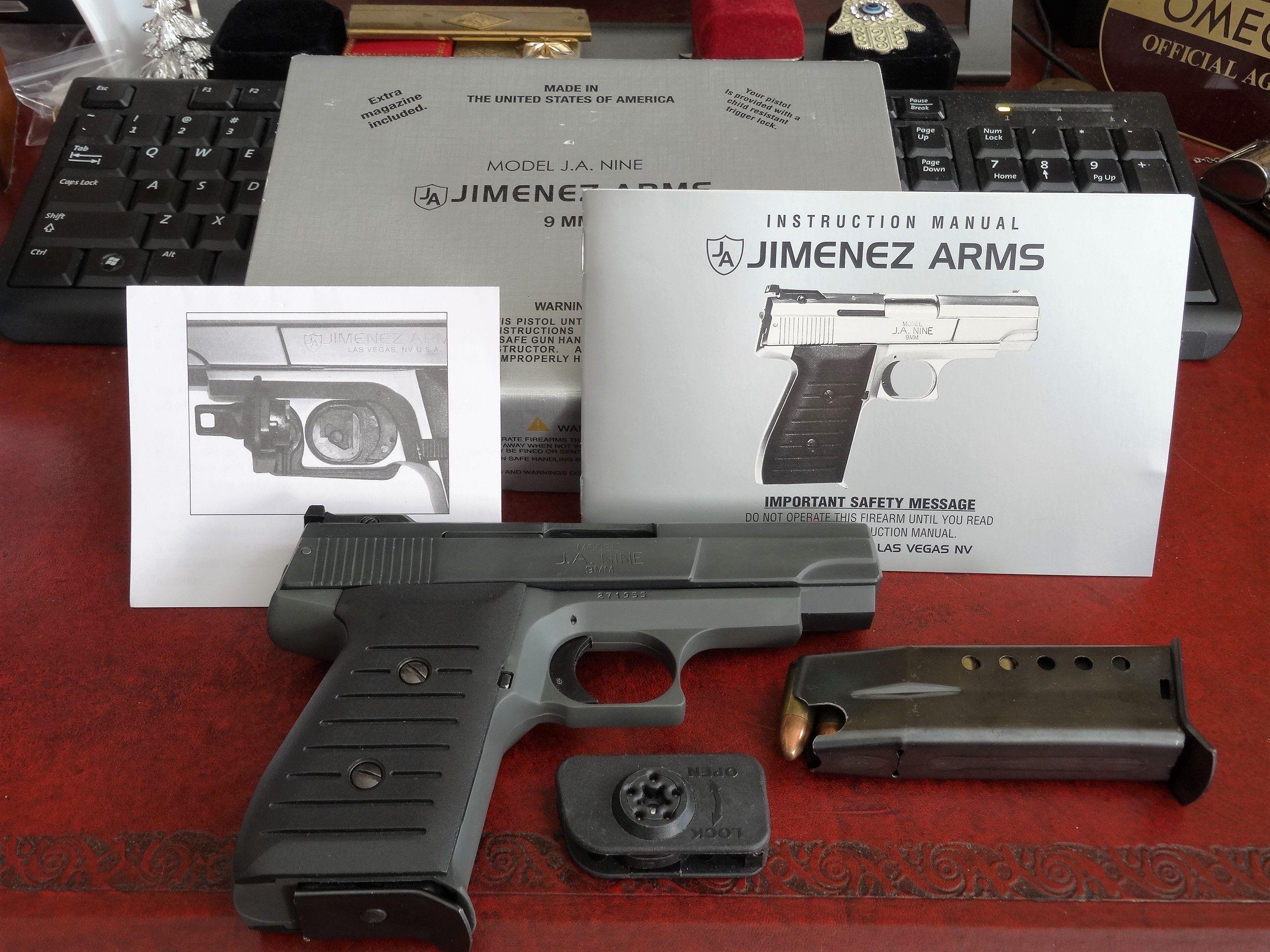 Jimenez Arms Model J A  Nine 9MM Pistol New in Box! New in