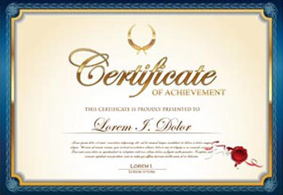 Pin by Menreet Magdy on Certificate Design Pinterest Certificate - new certificate vector free