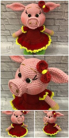Amigurumi pig crochet plush  free pattern – Free Amigurumi Patterns – Crochet