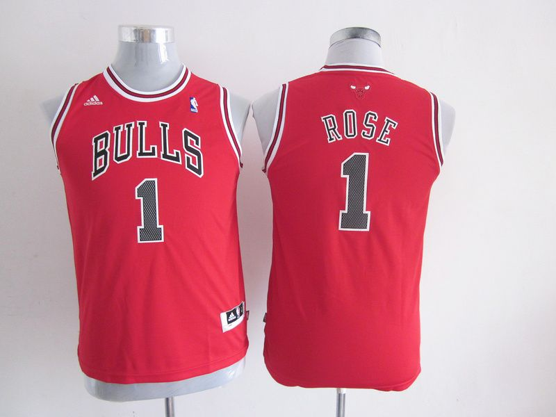 Adidas NBA Kids Chicago Bulls 1 Derrick Rose New Revolution 30 Swingman  Youth Red Jersey