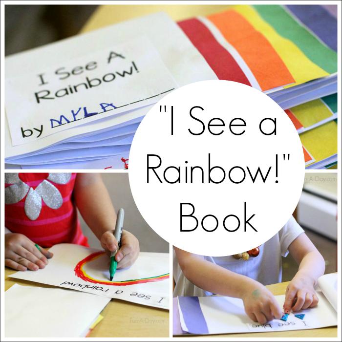 i see a rainbow preschool color activity