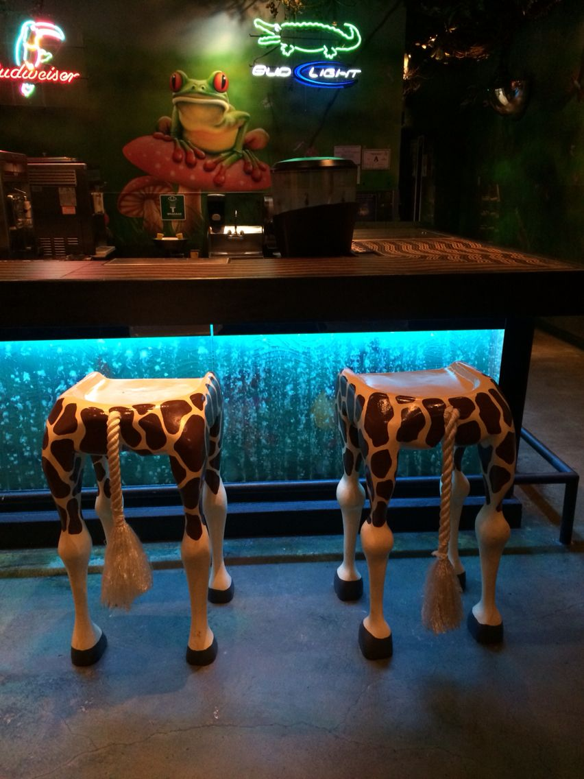 Bar stools at rainforest cafe MGM grand Las Vegas | AROUND THE ...
