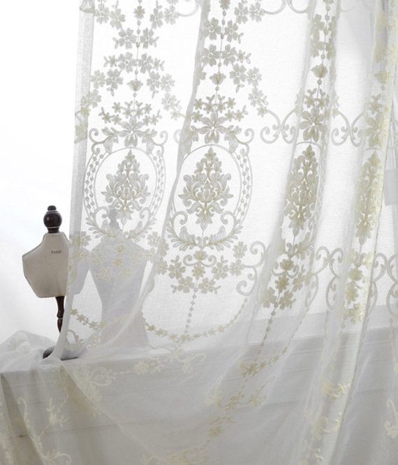A Pair Of White Sheer Curtains Made To Order Upto 104l Etsy