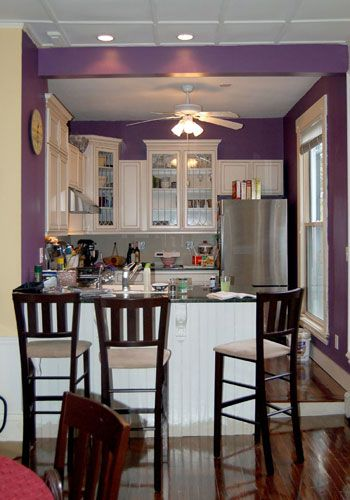 Decorating  purple kitchen ...