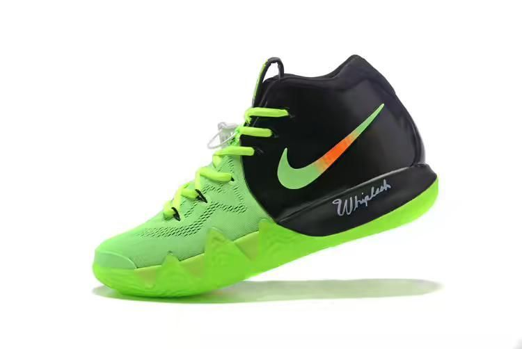 86e9fc7ed4a Shop Nike Kyrie 4 PE 2018 Mens Basketball Shoes Black Green