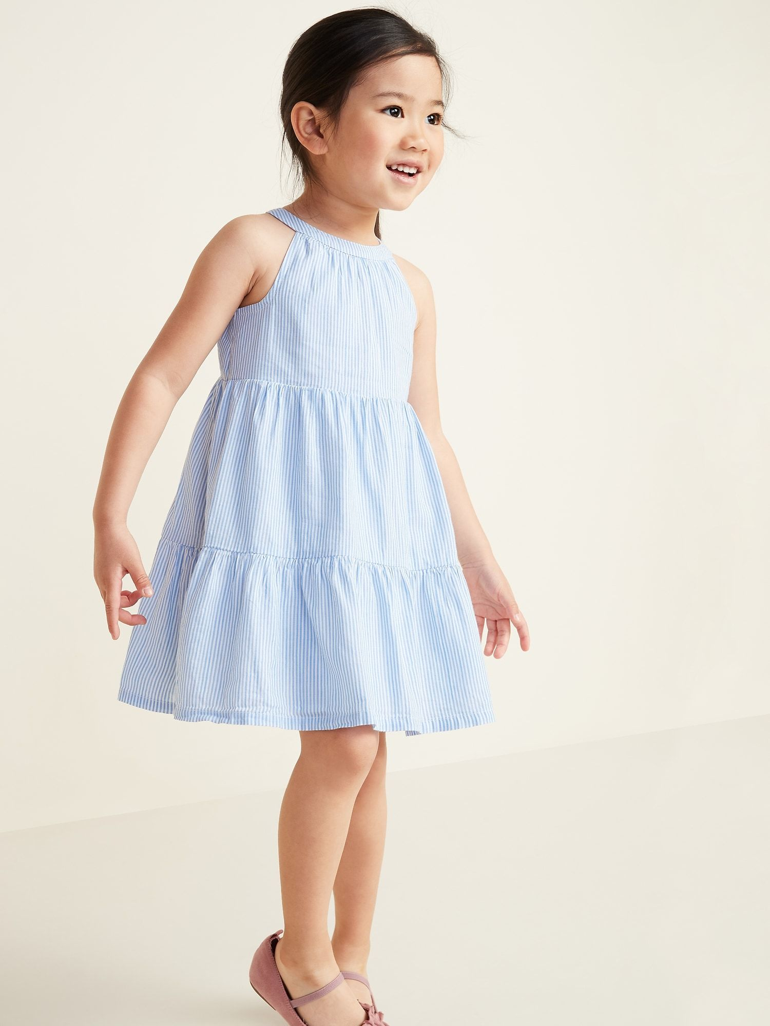 Tiered Halter Dress For Toddler Girls Toddler Girl Dresses Toddler Dress Little Girl Dresses [ 2000 x 1500 Pixel ]