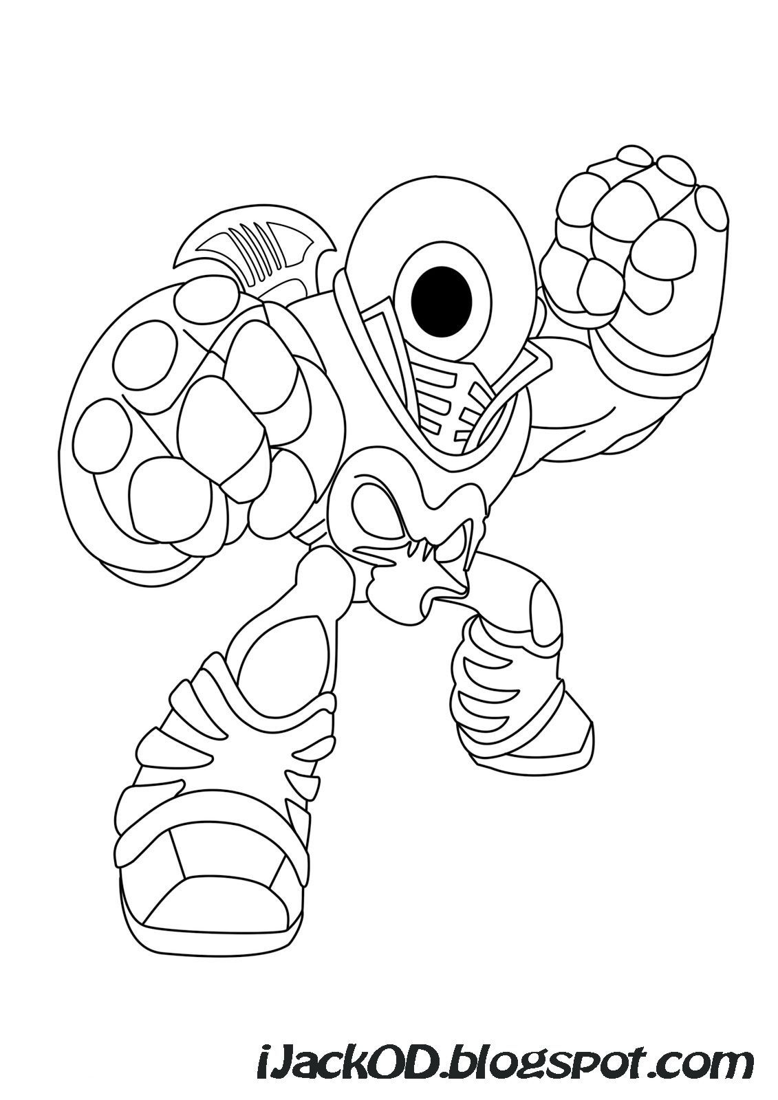 Merveilleux Skylander Giants Coloring Pages   Free Large Images