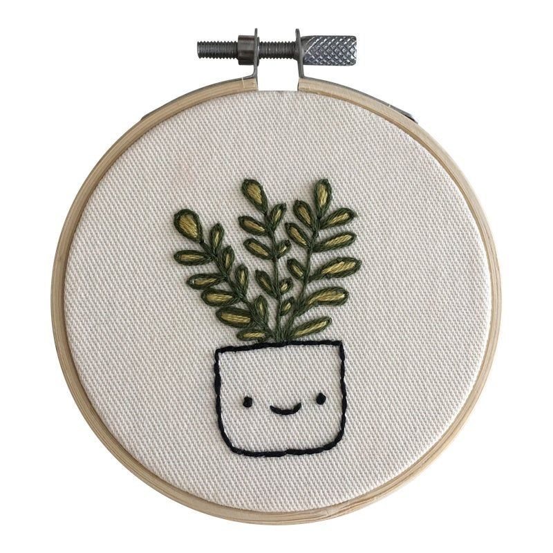 Fiddle Fig Face Plant Embroidery #embrodery