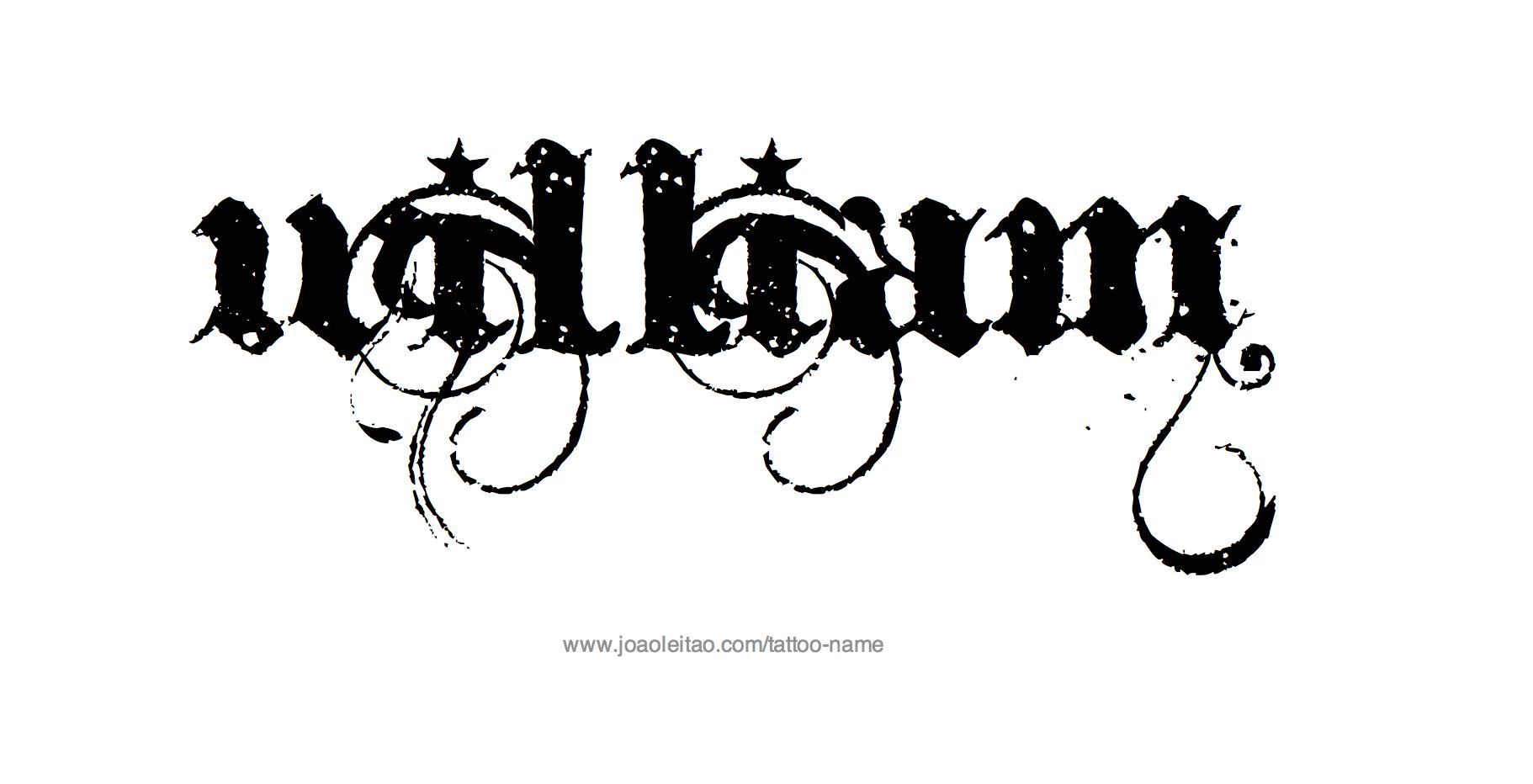 William Name Tattoo Designs