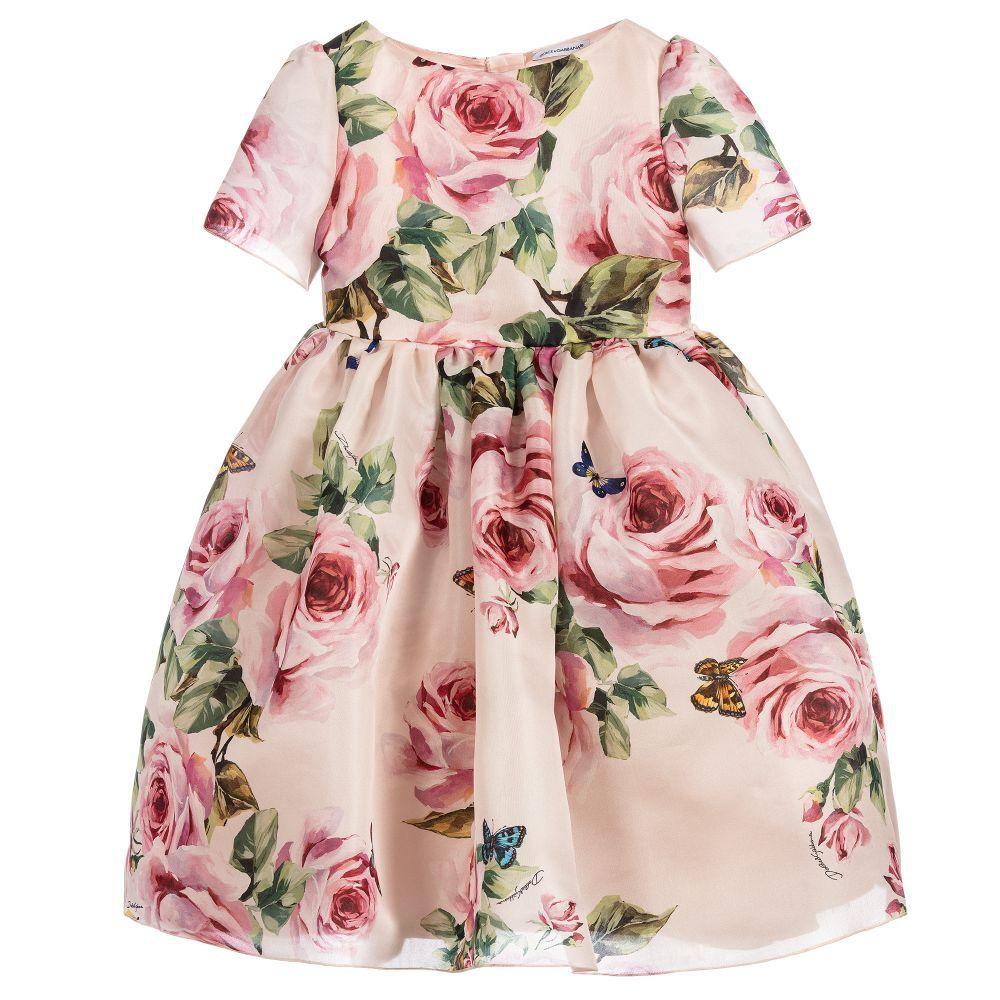 436d30d3 Dolce & Gabbana 'Rose Farfalle' Silk Dress | DRESSES FOR GIRLS ...