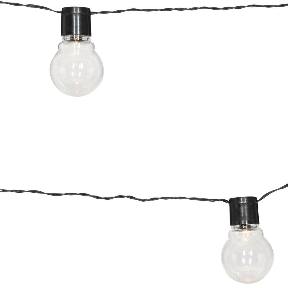 String Lights Home Depot Alluring Moonrays Solar Powered Clear Globe String Light91129  The Home Inspiration