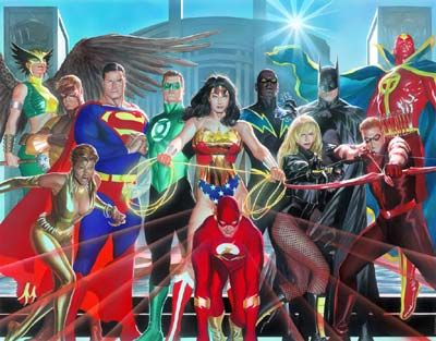 "DC Wall Art ""Where Justice Resides"" by Alex Ross - The Incredible Art Gallery"