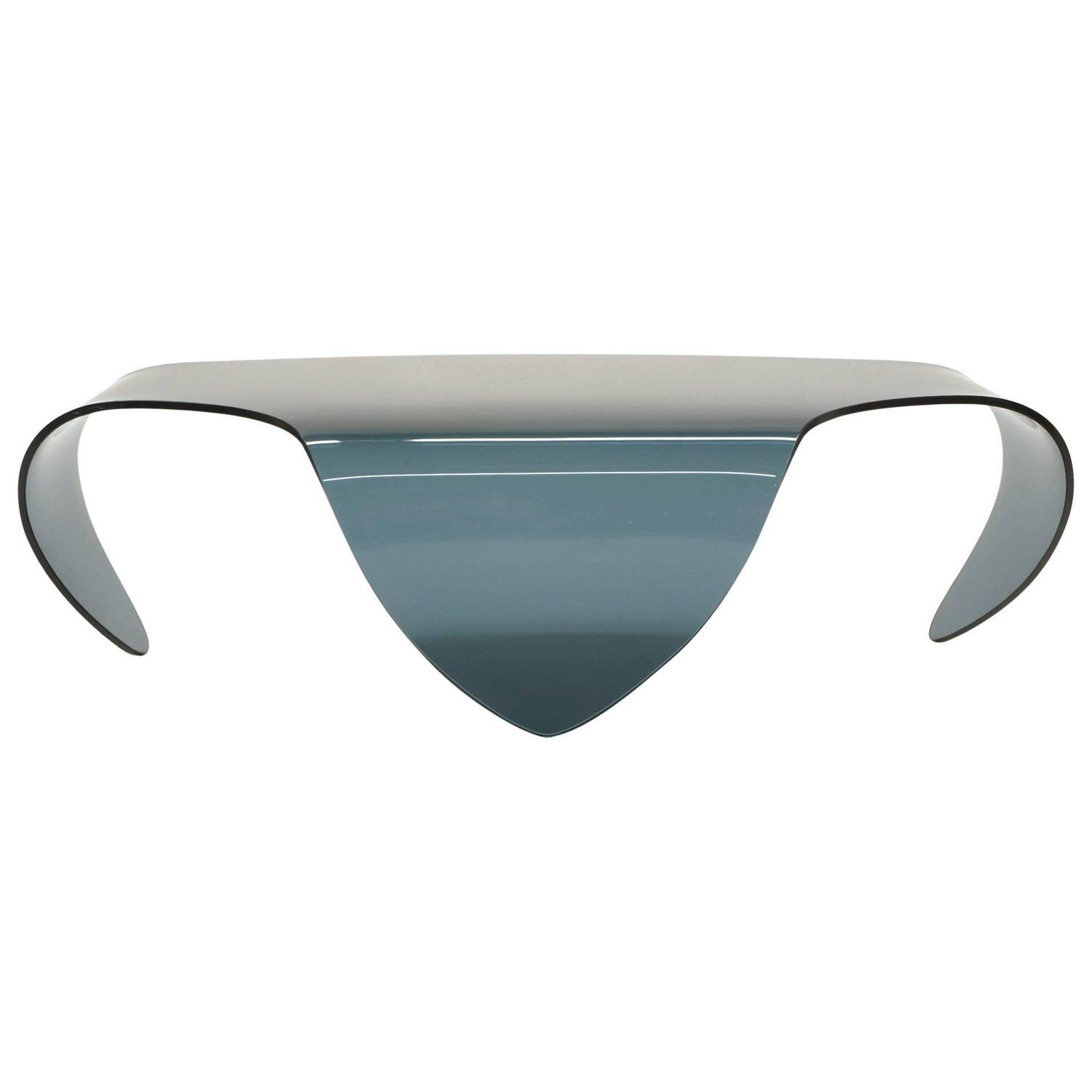 All Glass Coffee Table Biomorphic Sculptural Blue Gray Glass Form All Glass Coffee Table Grey Glass Glass Coffee Table