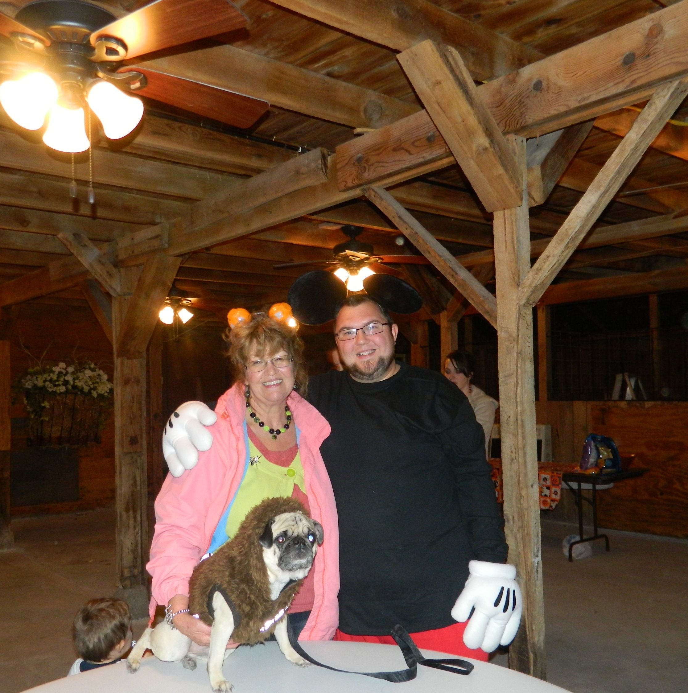 Guests at church Halloween party pose in the Wedding Barn/Events ...