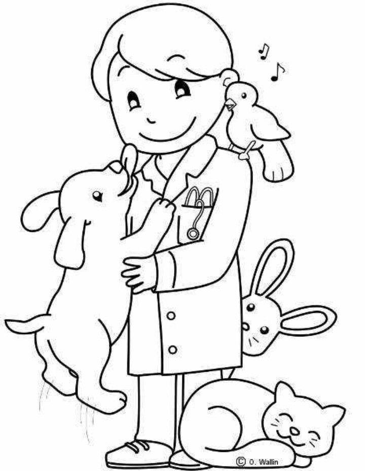Открытка днем, ветеринар картинки для срисовки