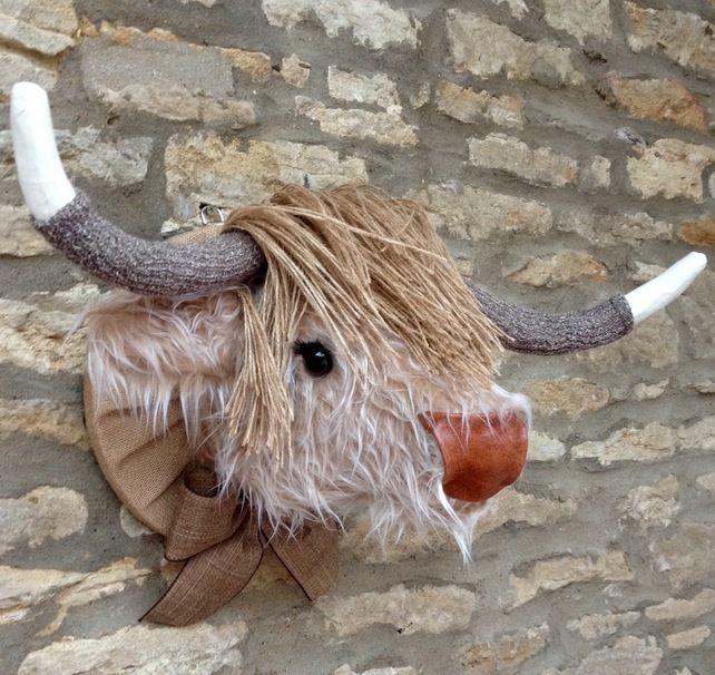 Pin de edna vel zquez en plush wall 4 kids room pinterest mu ecos de tela animales y escultura - Cabezas animales tela ...