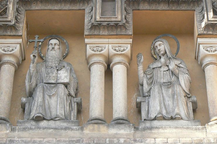 ST. SCHOLASTICA AND HER BROTHER ST. BENEDICT